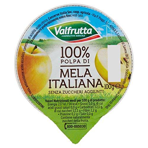 Valfrutta - 100% Polpa di Mela, senza zuccheri aggiunti e glutine - 100 g