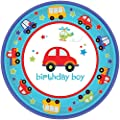 amscan All Aboard 1st Birthday Party Plates 18 Count Multicolor One Size by Amscan