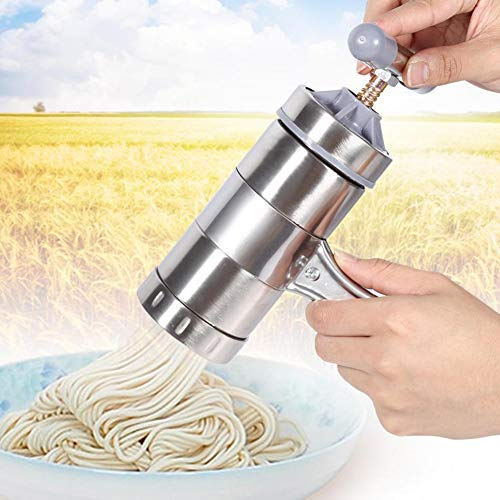JoyFan 10PCS Edelstahl Pasta Nudel Maker Presse Spaghetti Maschine Küchenwerkzeug 18.5 * 14 * 9cm silber …
