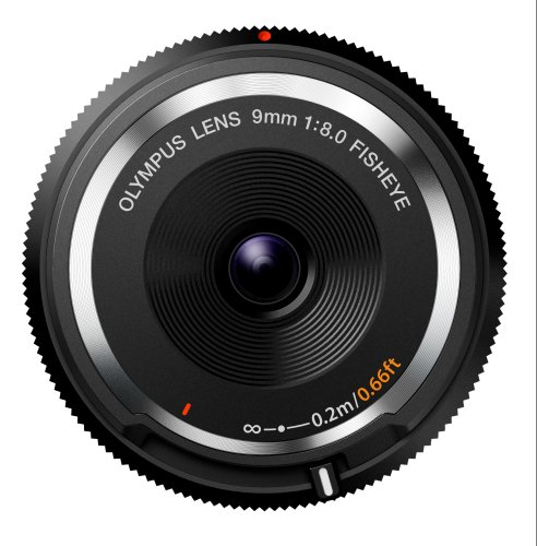Olympus Lente Body Cap 9mm 1:8.0 Fisheye Black - BCL-0980