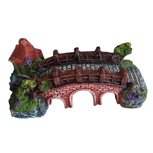 Haodou 1PCS Miniatur Brücke Ornamente Landschaft handwerk Micro-landschaft dekoration Kreative harz handwerk Künstliche schöne Mini Verzierung DIY Garten Dekoration Outdoor Miniatur Decor
