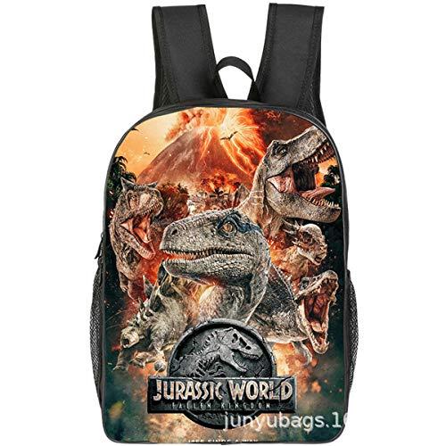 LPMAW Zaino per Bambini, Borsa Jurassic World 16 Pollici Scuola Materna Scuola Materna Dinosauro Zaino Casual Cartone Animato Moda Anime 10-40 * 30 * 16 CM