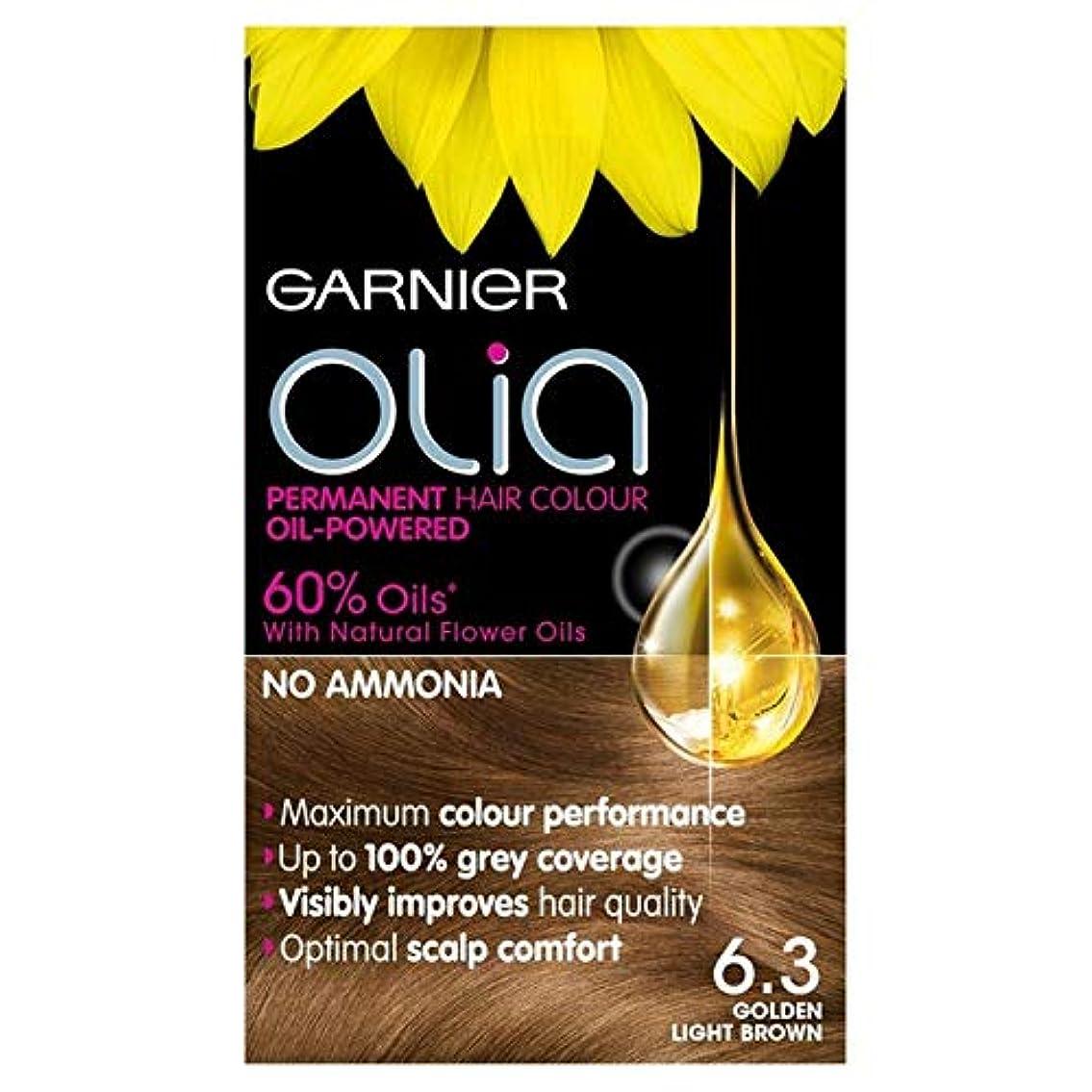 熟した許可する暴動[Garnier ] ガルニエOlia 6.3黄金のライトブラウンパーマネントヘアダイ - Garnier Olia 6.3 Golden Light Brown Permanent Hair Dye [並行輸入品]