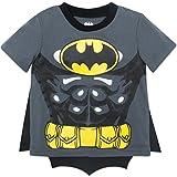 Warner Bros. Batman Toddler Boys' Costume T-Shirt & Cape Set (Gray, 4T)