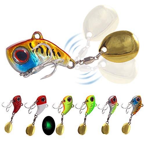 Spinner Bait Set, 6PCS 13g Spinning Bait Cebo Artificial Spinner Bait Spinner Bait Spin Buddy Cebo Artificial Señuelo de Pesca Anzuelos de Pesca, 3cm
