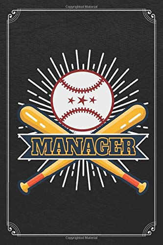 Manager: Baseball Coach Player Athlete 120 Page Blank Lined Journal Notebook