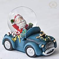 サンタカーミニスノードーム/ブルー 2020クリスマス雑貨 プレゼント おしゃれ