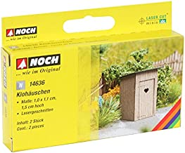 Noch 14636 Outhouse 2/ N Scale  Model Kit