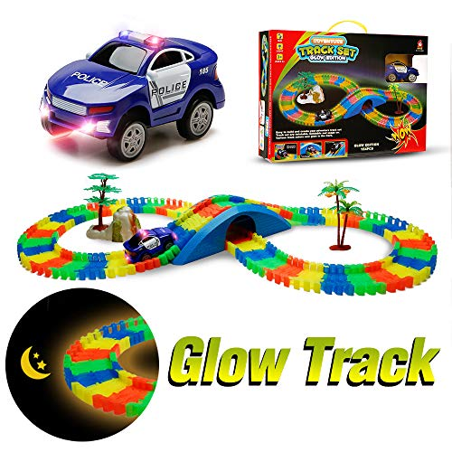 Aole Glow Race Car Track for...