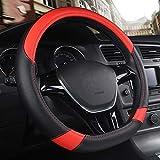 MDHANBK Couverture de Volant de Voiture en Cuir en Forme de D, pour Volkswagen Golf K3 TT Polo Passat Tiguan Kia Sportage Optima K5 Accessoires intérieurs de Voiture