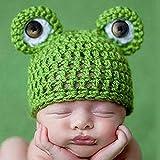 Aiming Rana Linda recién Nacidos Ganchillo Trajes Cap Set Casquillo Caliente Chica del Muchacho del Sombrero del bebé del Sombrero del Casquillo del bebé para Recién Nacido Apoyo de la fotografía