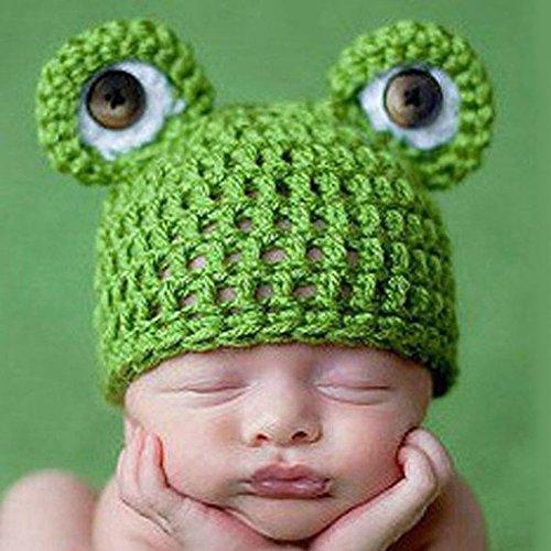 Aiming Carino Frog Newborn Crochet Outfits Hat Set Protezione Calda Protezione Ragazzo della Ragazza del Cappello del Bambino della Protezione del Bambino per Neonato Fotografia Prop