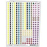 Sticker Aufkleber Set für Kalender - 560 Kalendersticker aufkleben   Mülltonnen, Geburtstag, Urlaub, Arzt, Date & Wichtige Termine hervorheben   Optimal für Müllkalender, Familienkalender, Planer