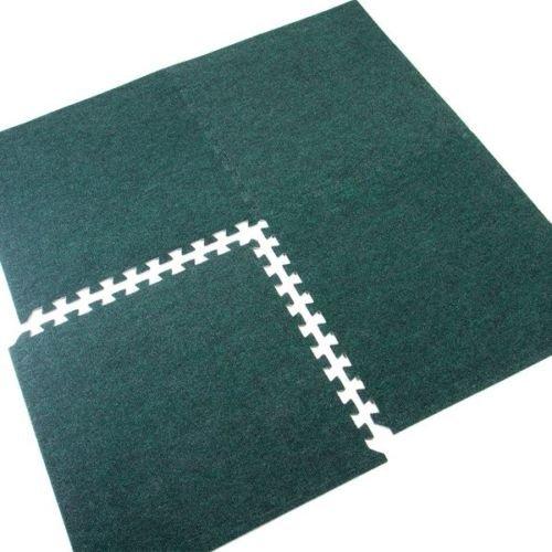 Grün Interlocking Floor Fliesen | 4| 16SQ FT | 1,49M2| Schaumstoff Teppich Bodenbelag | ideal Ermüdungsmatte für Home Office Gym Shop