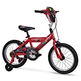 Huffy Disney Cars Kid Bike Quick Connect Assembly, Handlebar Plaque w/ Sounds & Training Wheels, 16' Red