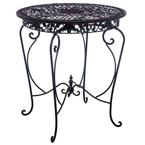 aubaho Table de Jardin - Fer - Style Antique - Marron