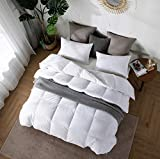 Amazon Brand - Umi Feather Down Duvet Single Size 13.5 Tog Duvet Luxurious Hotel Quality Hypoallergenic Duvet with 100% Down-proof Cotton Shell (155x220cm,White)