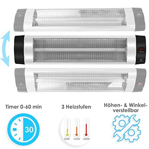 Kesser® Infrarotstrahler Heizstrahler Wärmestrahler Terrassenstrahler Temperatur Bild 4*