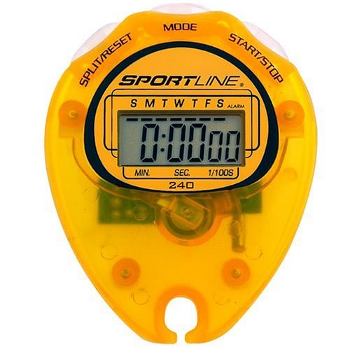 Sportline Walking Advantage 240 Econo Stopwatch Includes Stopwatch, Lanyard, Warranty Card, Instruction Sheet, and Walking Book
