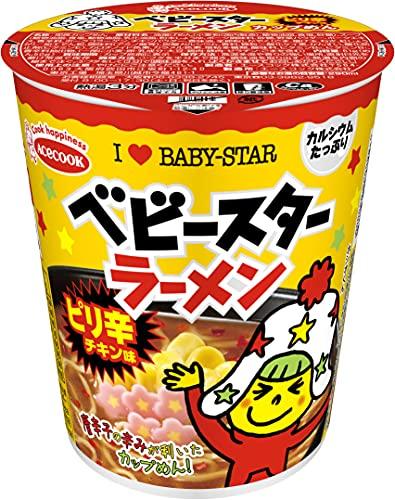 エースコック ベビースターラーメン カップめん ピリ辛チキン味 54g×12個