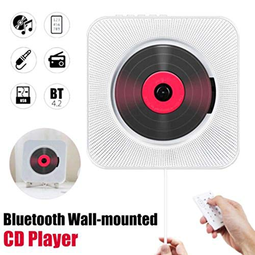 Learn More About Red tide Wall Mounted CD Player, Surround Sound FM Radio Bluetooth USB MP3 Disk Por...