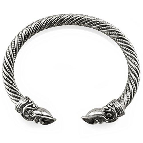 Wikinger Armreif Hugin Munin - Silber - Gold / Bronze (Silber)