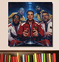 UDIYXC Logic The Incredible True Story Music Album Cover Poster Print on Canvas Wall Art Home Decor No Frame,60x80cm