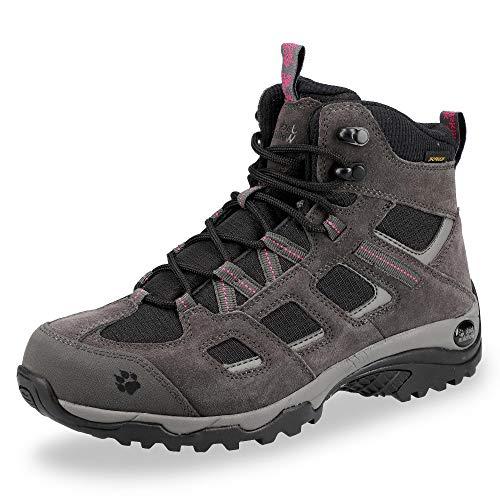 Jack Wolfskin Damen Vojo Hike 2 Texapore MID W Wasserdicht Trekking-& Wanderstiefel, Grau (Dark Steel/ Black 6059), 39.5 EU