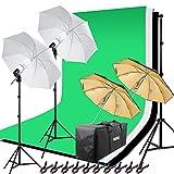 HAKUTATZ® Juego de estudio fotográfico profesional Studio lámpara Studio Sets Sistema de fondo lámpara Trípode Softbox fotografía con funda