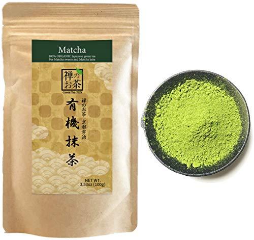 Zen no Ocha Japanese Matcha Powder Green Tea 100% Organic Made in Kyoto Japan 3.53oz(100g)