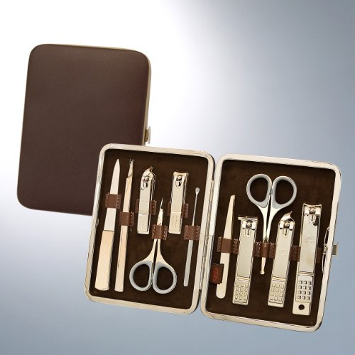 World No. 1, Three Seven 777 Travel Manicure Pedicure Grooming Kit Set - Nail Clipper (Total 10 Pcs, Model: TS-393WG),...