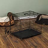 Pet Vida Pet Cage Metal Folding Dog Puppy Animal Crate Vet Car Training Carrier With Tray, 30 Inch
