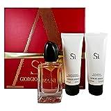 Giorgio Armani SI femme Duft Geschenkset, 1er Pack (Eau de Parfum 50 ml, Duschgel 75 ml,...