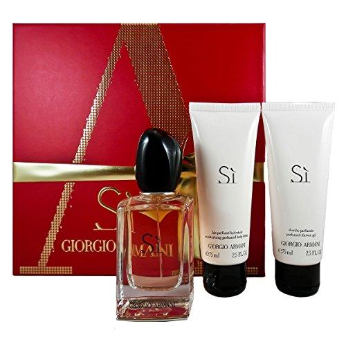 Giorgio Armani SI femme Duft Geschenkset, 1er Pack (Eau de Parfum 50 ml, Duschgel 75 ml, Körperlotion 75 ml)