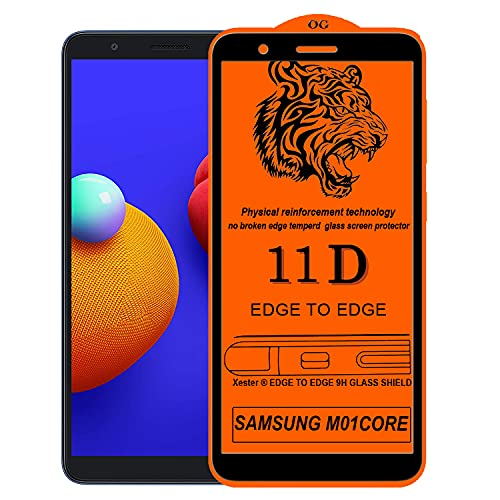 Rofix star Screen Protector for Samsung Galaxy M01 CORE,Tempered Glass Edge to Edge Full Screen Coverage with Easy installaition kit -[1 Pack]