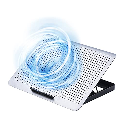 サンワダイレクト ノートパソコンクーラー 冷却台 アルミ 15.6インチ対応 静音 角度8段階 風量無段階 USB2ポート USB給電 400-CLN031