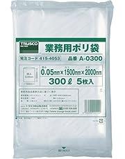 TRUSCO 業務用ポリ袋 300L 5枚入 A0300