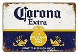 Asher La Plus - Decoración de pared grande retro de la marca de Bar México Corona Beer es perfecta para carteles familiares de clubes de cerveza, tamaño 20 x 30 cm (8 pulgadas x 12 pulgadas).