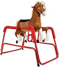 Rockin' Rider Lucky Talking Plush Spring Horse,Brown,40.00 x 24.00 x 38.00 Inches