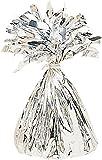 amscan Ballongewicht Folie 170 g, Kunststoff, Silber, 12