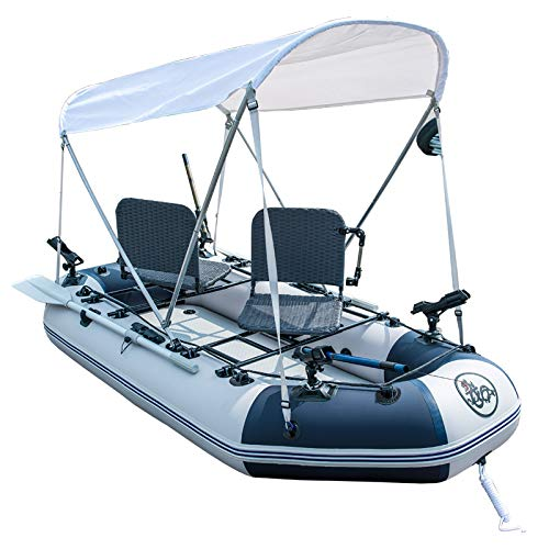 LIBINA Juego de Botes inflables con remos y Bomba de Aire, Barco de Pesca con Red Barco de Kayak con Fondo Duro Engrosamiento Barco Inflable Bote de Asalto Barco a la Deriva Isla de Fiesta Isla