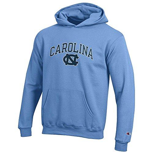 Elite Fan Shop North Carolina Tar Heels Kids Hooded Sweatshirt Blue - Small