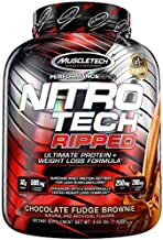 Protein Powder for Weight Loss | MuscleTech Nitro-Tech Ripped | Lean Whey Protein Powder | Whey Protein Isolate | Weight Loss Protein Powder for Women & Men | Chocolate, 4 lbs (42 Servings)