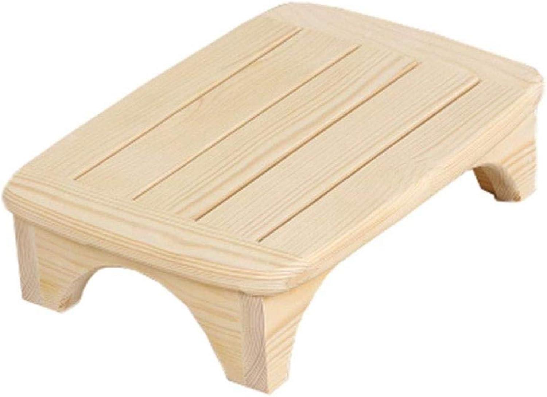 ahorrar en el despacho RFJJ Taburete con Pedestal de Inodoro, Pedales de de de sofá de cabecera de Madera Maciza Baño Antideslizante Estera de Madera Sofá Taburete para pies, 45x32x12cm (Color   Unpainted Wood)  descuento