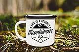 Enamel Mug 10oz Metal Camp Mug Camp Enamel Mug Mountain Mug Hiking Mug Travel Mug Campfire Mug Life Is A Journey Custom Enamel Mug Vanlife Enamelware Gift For Man(Black Edge)