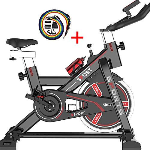 XWDQ Cardio Bicicletta Spinning Bike Professionale per Casa Bici da Spinbike Cyclette Fitness Palestra Workout, Regolazione del Sellino & Manubrio, Ottimo per Un Allenamento di Tipo Casalingo,Nero