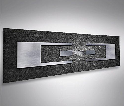 islandburner, Cuadro Panoramico Balance Panoramico Metal Charcoal Impresión sobre Lienzo - Formato Grande - Impresion en Calidad fotografica