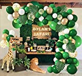 140Pcs Jungle Party Balloons Garland Arch Kit, Gold...