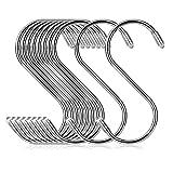 S字フック 大 Sじフック ステンレス 10個セット (11cm×10pcs) COM4SPORT 形フック 汎用フック 防錆 キッチン 浴室 お風呂 銀色