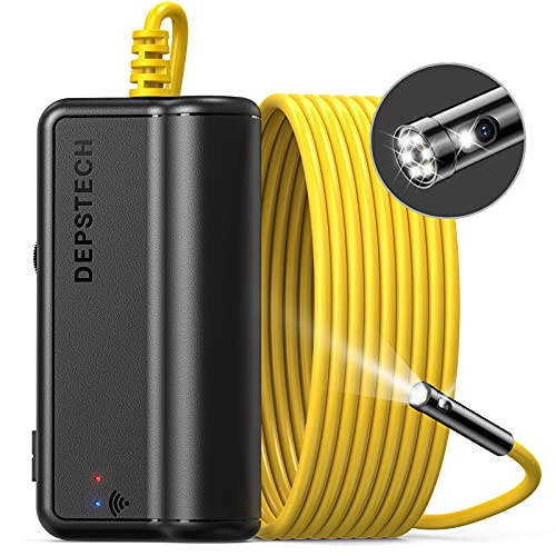 DEPSTECH Dual Lens Wireless Endoscope, 1080P Scope Camera with 7 LED...